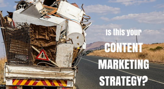 Image of dump truck content marketing engagement