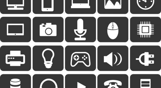 Image of digital disruption icons